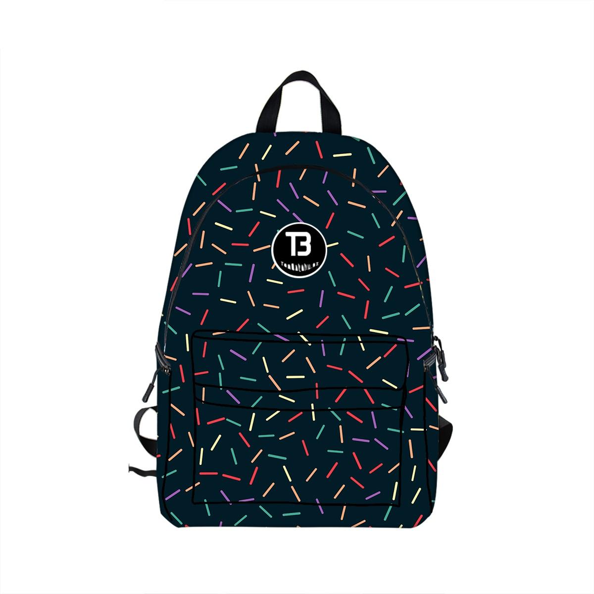 a2e69a6b6de Stylový černý batoh s originálním motivem může být úžasným společníkem pro  Vás do školy nebo na výlety.