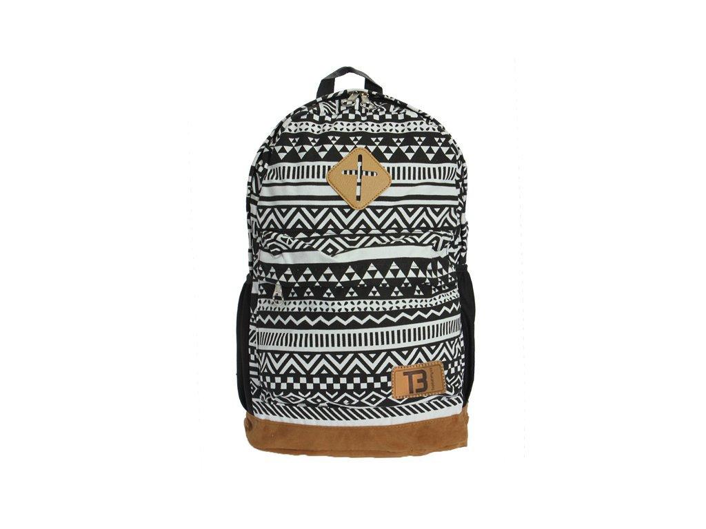 7add0f74e5 Dámský městský batoh Nationality Bag Black + White 16 l - Top Batohy.cz